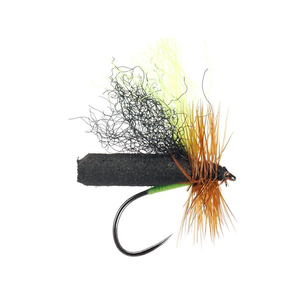 Black Chartreuse Evo Slickwater Caddis BL