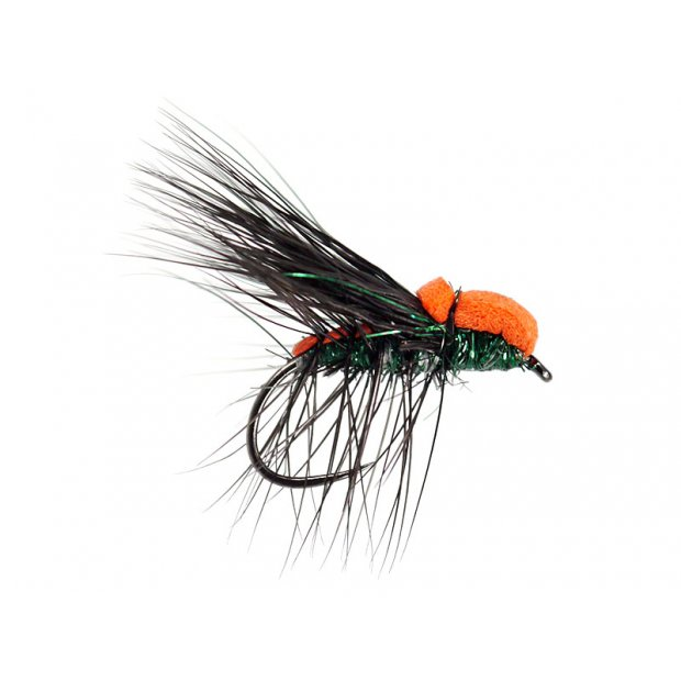 Black Peacock Deer Hair Caddis Evo BL